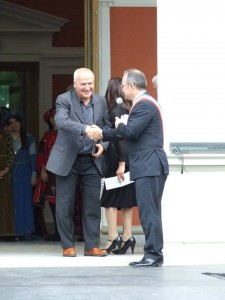 il sindaco emil boc e michele speroni organizzatore gruppo parma