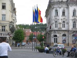 I giorni di Cluj(piazza Unirii chiusa al traffico)16